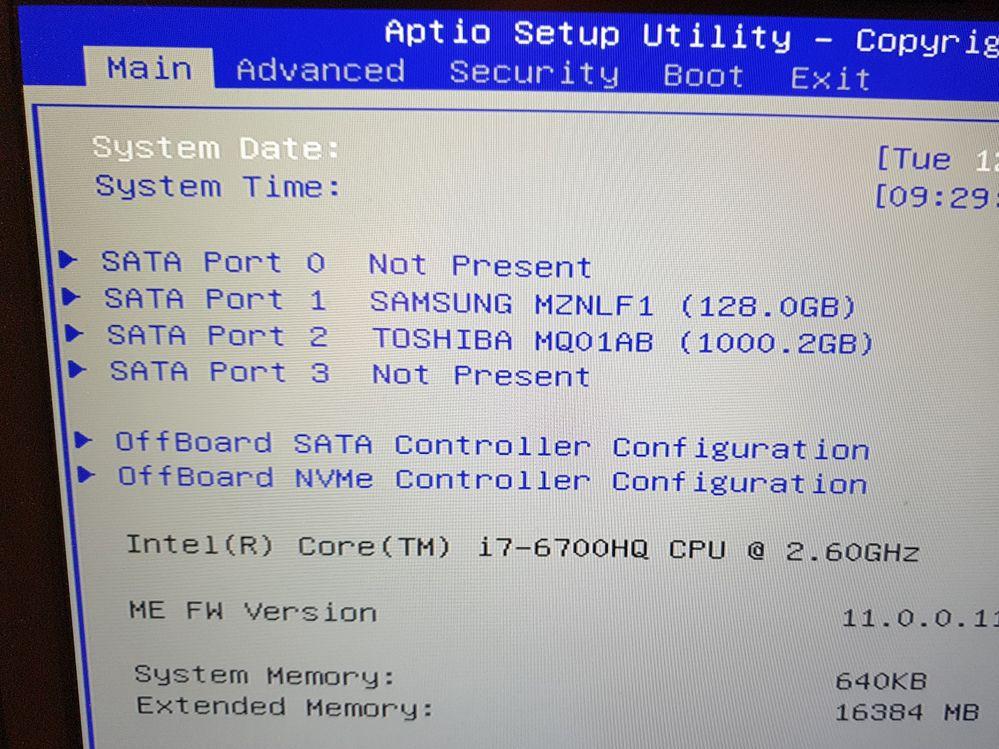 BIOS neuer + alter m.2 Speicher