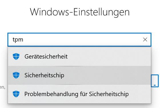 Windows-Einstellungen in Windows 10