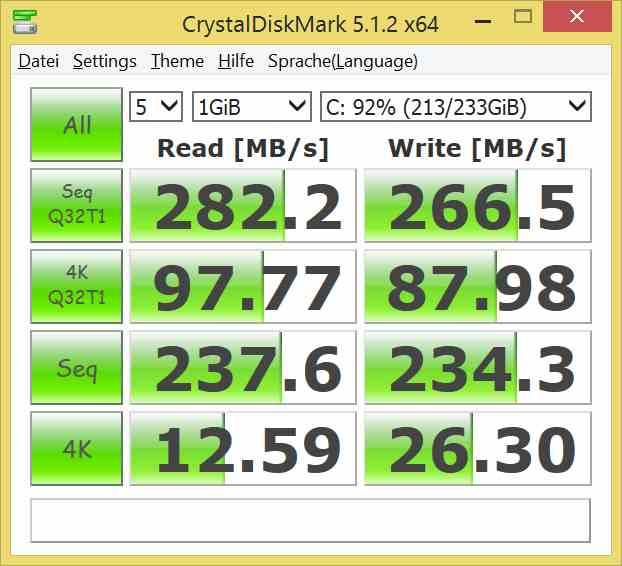 SSD Samung 840 im Einschub