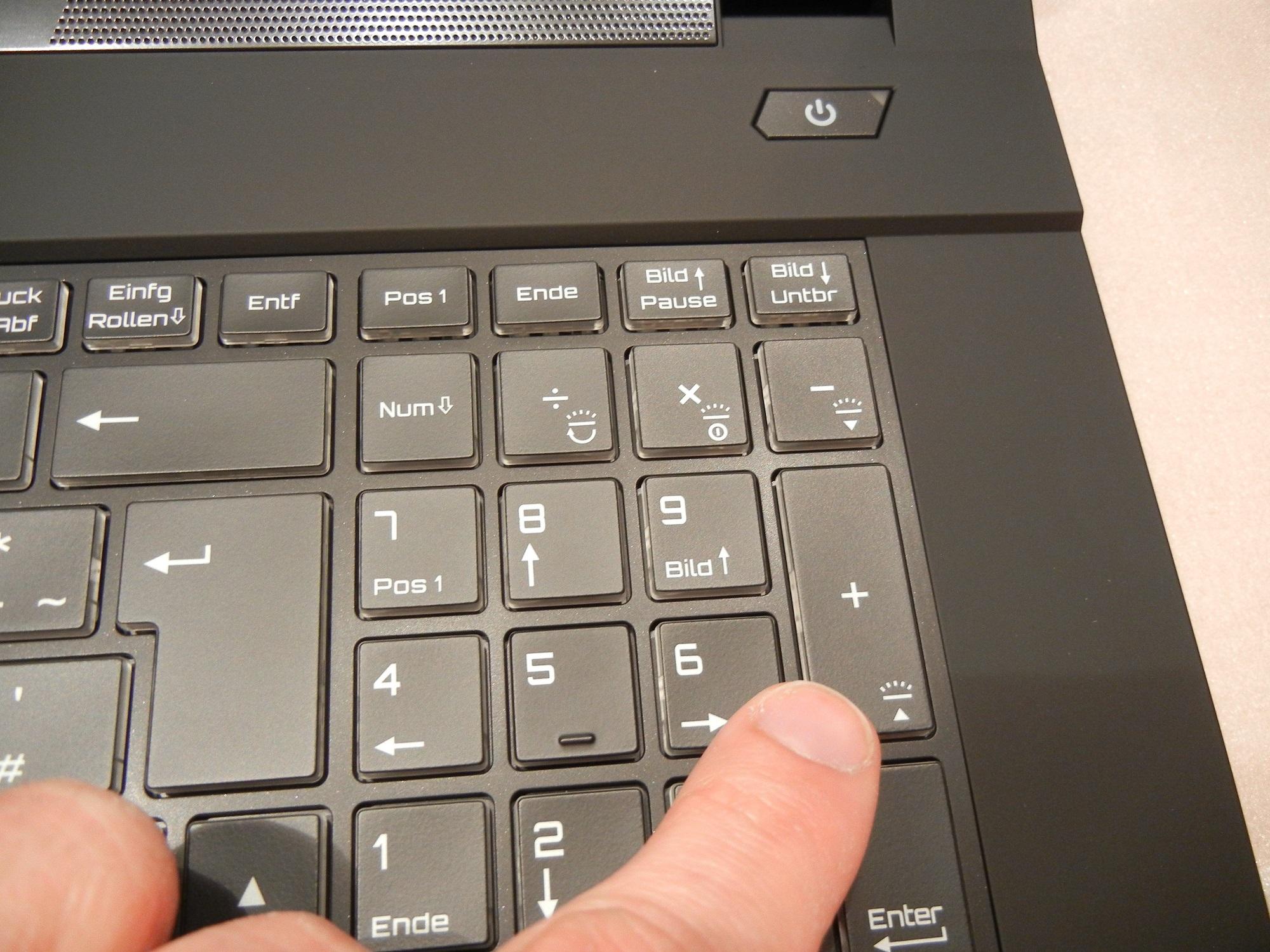 MEDION ERAZER P6679 / Tastatur-Hintergrundbeleucht