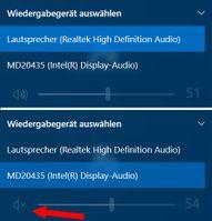 Auswahl des Audio-Ausgabegerätes