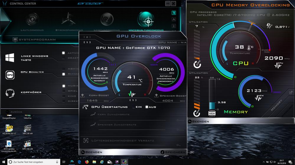GPU kann übertaktet werden
