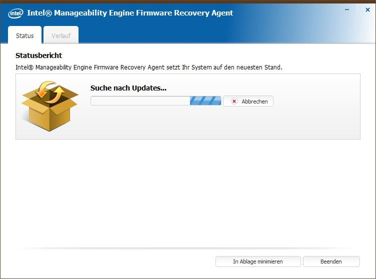 Firmware Recovery Agent sucht...