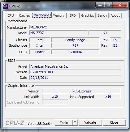 Spezifikationen Motherboard MS-7707