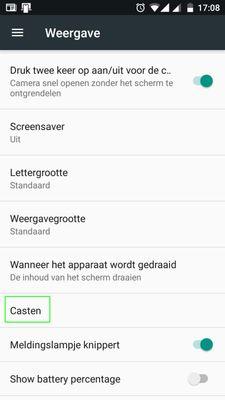 Casten op Android 7.0