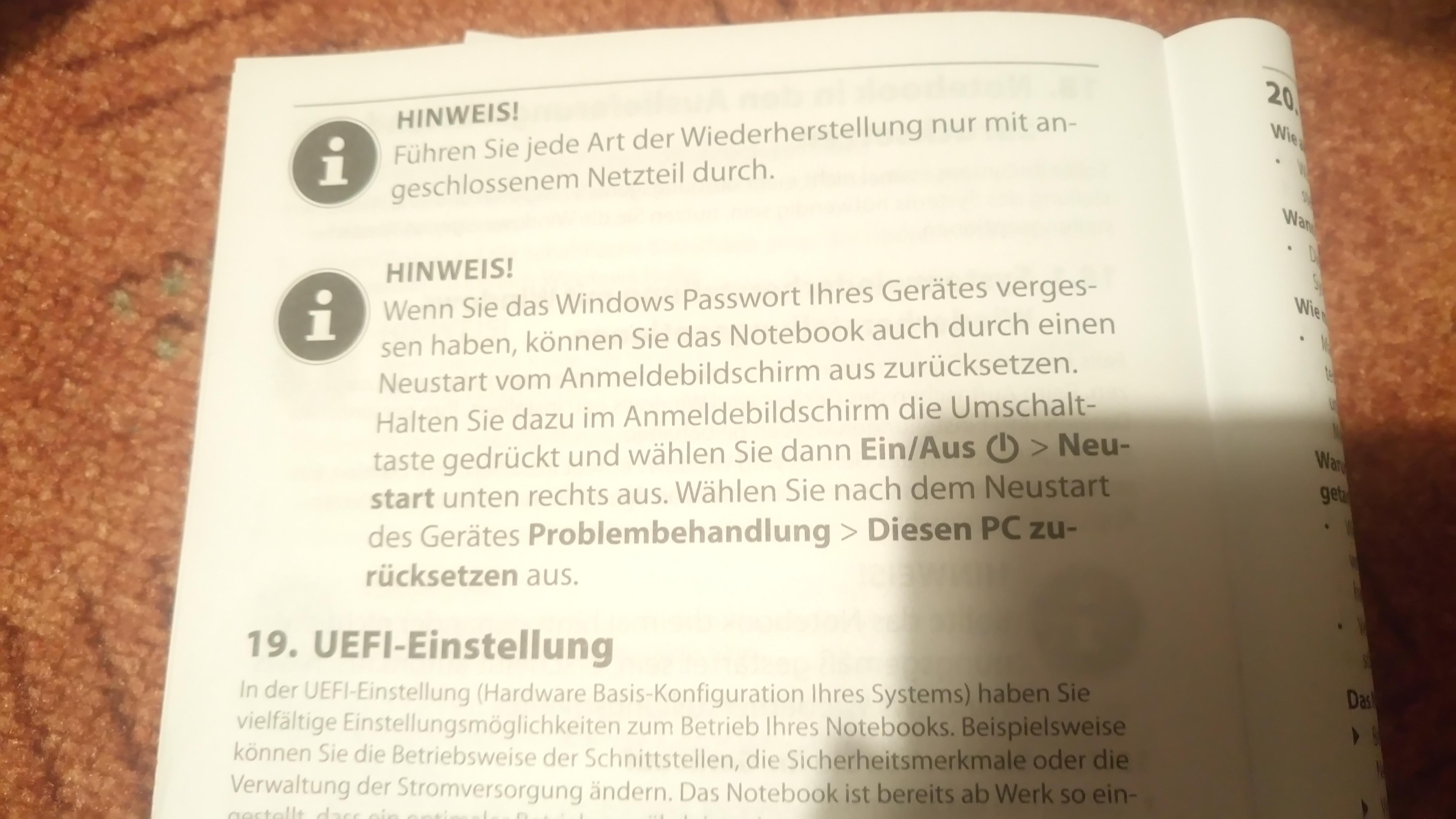 tablet passwort vergessen windows